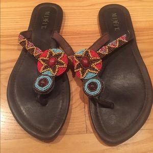 Beautiful beaded sandals