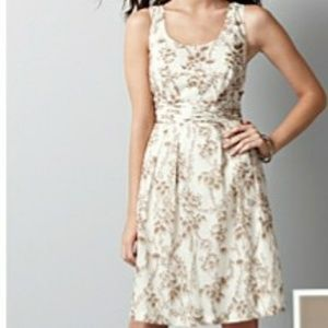 White and Brown Floral dress