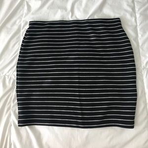 Zara stripped skirt