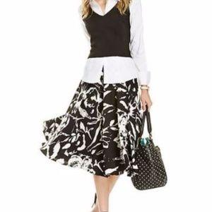 Lucy Paris Floral Skirt Sz M