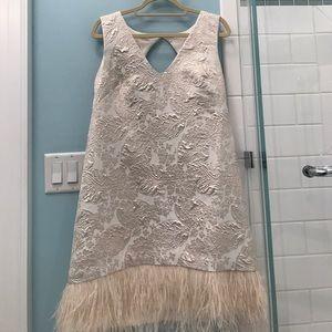 Cream Nicole miller dress