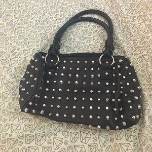 Studded black purse