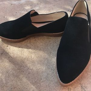 Nine West suede flat loafers