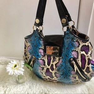 Betseyville by Betsey Johnson Painted Python Hobo