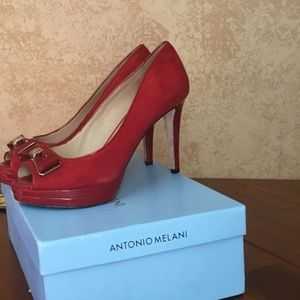 Antonio MELANI red heels with bow in front 💋🔥🔥