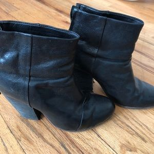 Rag and bone black newbury boot bootie size 36 6