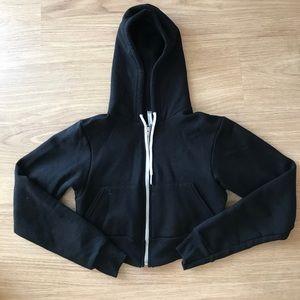 American Apparel cropped hoodie