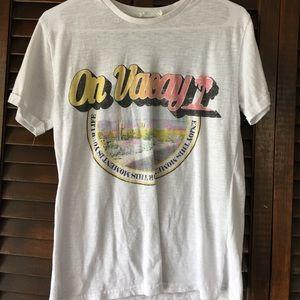 """""""on vacay"""" t shirt"""