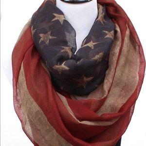 Vintage look American Flag scarf never used