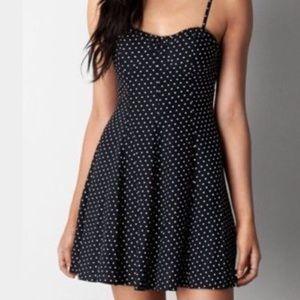 •• Black and White Polka Dot Dress ••