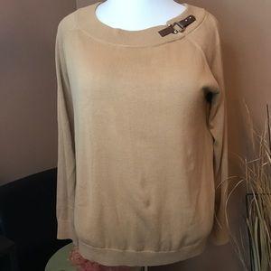 NWT! Ralph Lauren Tan Sweater