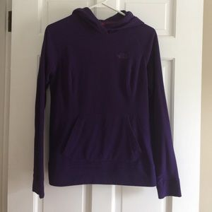 Purple North Face Hooded Sweatshirt
