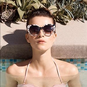 Anthro Oversized Speckled Sunglasses