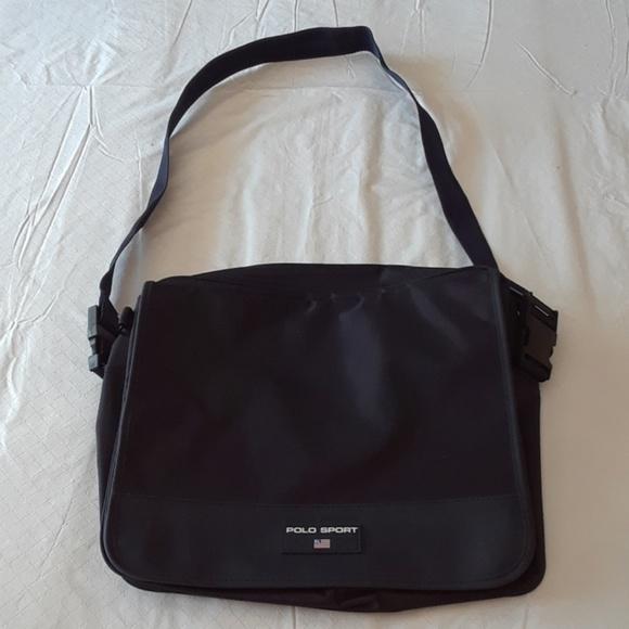 Retro RL Polo Sport Messenger Bag. M 59eb82d7ea3f36f0390447b8 75d356f1ee636