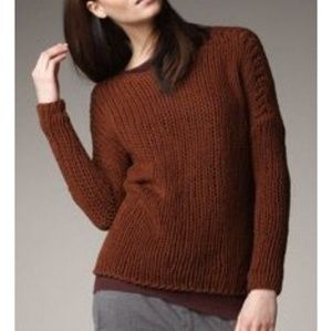 $275 VINCE LOOSE KNIT OPEN BOATNECK SWEATER NWT
