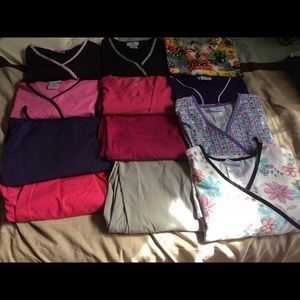 Scrub tops and bottoms