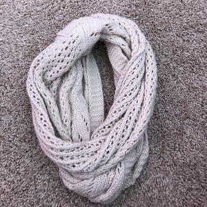 Cream sparkly infinity scarf