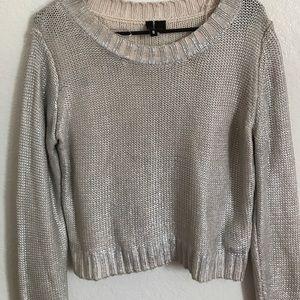H&M metallic cropped sweater