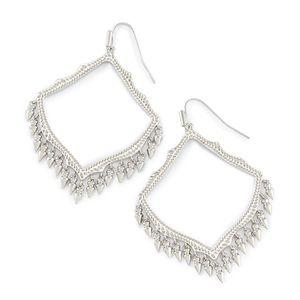 Kendra Scott Lacy Drop Earrings In Silver
