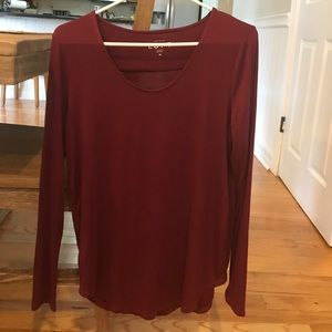 Loft long sleeve shirt - in maroon