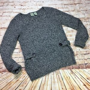 [Anthropologie] Monogram Marled Gray Sweater