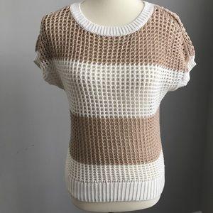 Crochet shirt sleeve sweater