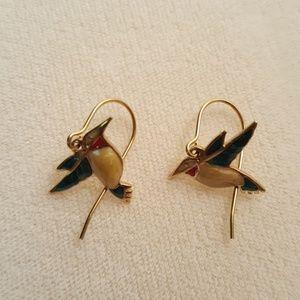 HUMMINGBIRD PIERCED EARRINGS