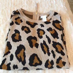 Leopard Print Boxy Sweater