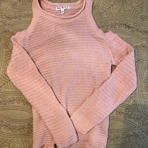 Pink cold shoulder sweater NWT