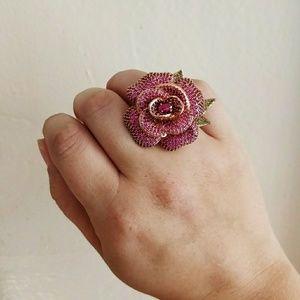 Kate Spade Pink Rose Ring NWOT
