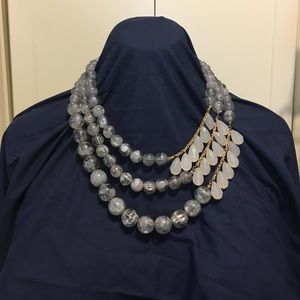 Anthropologie statement bead necklace