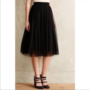 Black tule skirt