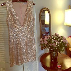 Tobi rose colored sequin dress