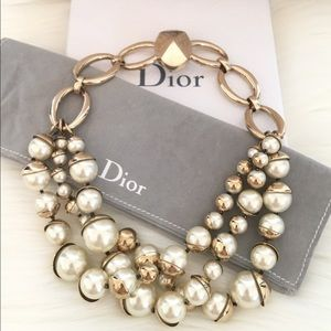 Christian Dior Mise En Dior Triple Row Necklace