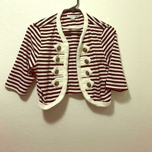 Cropped Striped Jacket