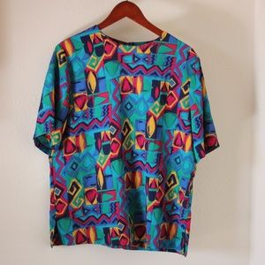 Vintage 80s Abstract Top