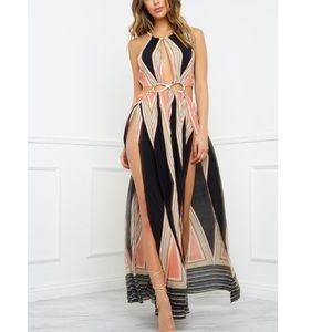 NWOT Cut out maxi dress