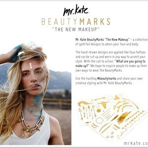 Mr Kate Beauty Marks Gold Tattoos