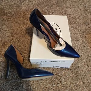 Steve Madden Blue patent leather