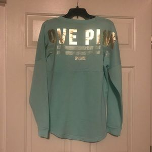 XS PINK Metallic Gold and Turquoise Fleece