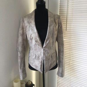INC faux snakeskin blazer
