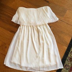 Everly ivory sleeveless dress