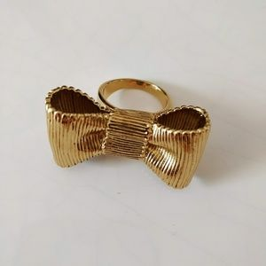 Kate Spade All Wrapped Up Bow Ring NWOT