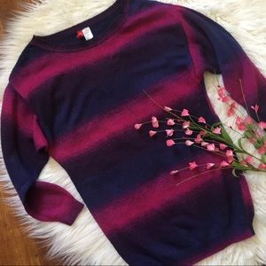 H&M ombré 3/4 sleeve oversized sweater