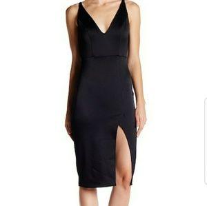 Stunning Bodycon Black ABS Dress (Small)