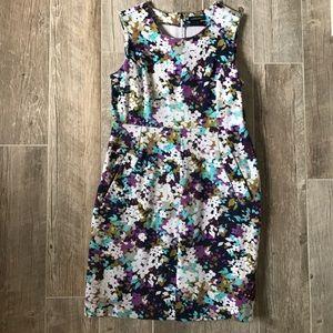 Floral Ponte Sheath dress