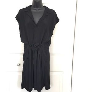 NWT Ann Taylor Loft Shirt Work Dress Black M