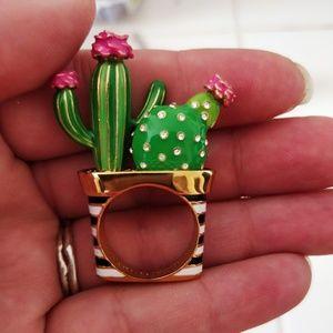 Kate Spade Cactus Ring, NWOT