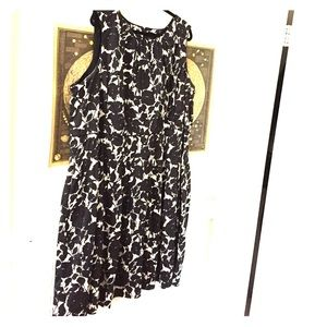 Black and white floral talbots sleeveless dress