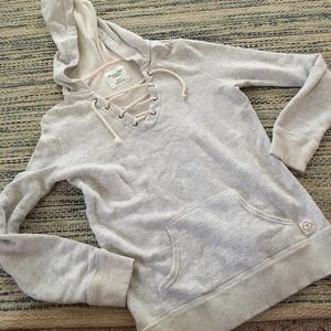 American eagle lace up hoodie size xs